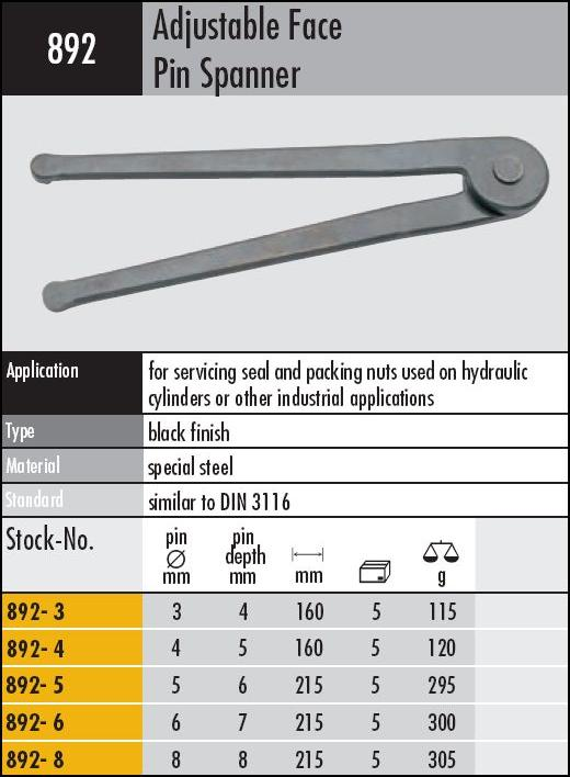 Face Pin Spanner Wrench